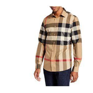 NWOT Burberry Men's Somerton Check Sport Shirt